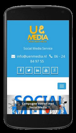 Website geschikt voor mobiel gebruik